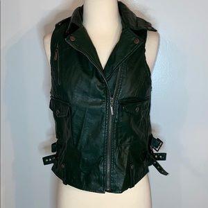 Jou Jou leather motorcycle vest sz medium